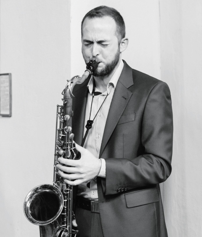 Florian Anderl am Saxophon